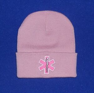 Image is loading Star-of-Life-Pink-embroidered-EMS-EMT-women- c2d45a918b3