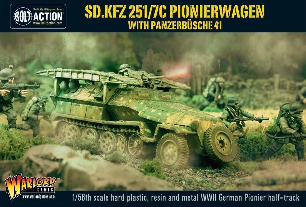 28mm Warlord Games SdKfz 251 7C Pionierwagen With Panzerbuchse 41 BNIB, WWII