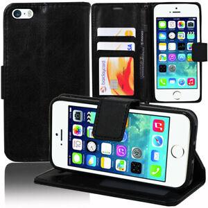 Etui-Coque-Housse-Portefeuille-Rabat-Cuir-PU-Apple-iPhone-5-5S-iPhone-SE