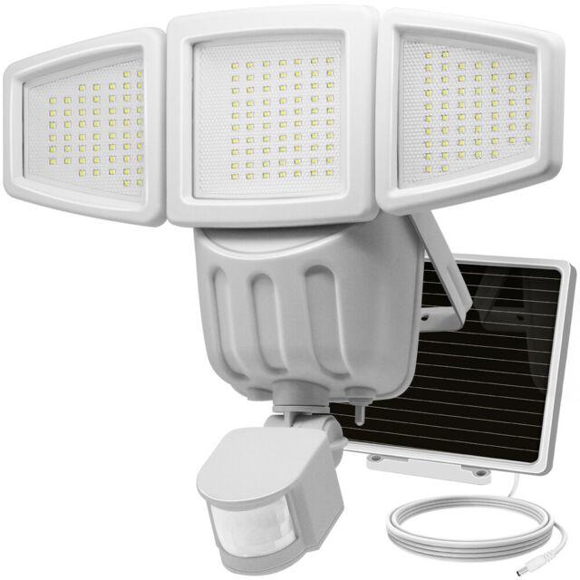 182 LED Solarleuchte Outdoor Bewegungssensor Wandleuchten Garten Hof Lampe LED
