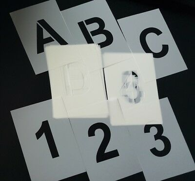 10cm HEIGHT Tiles SCRABBLE STYLE Alphabet Letters Font STENCILS approx 4 in