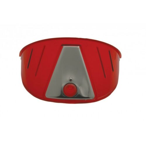 HEADLIGHT VISOR IN RED  7 INCH LIGHTS  1 PIECE MOTORCYCLES