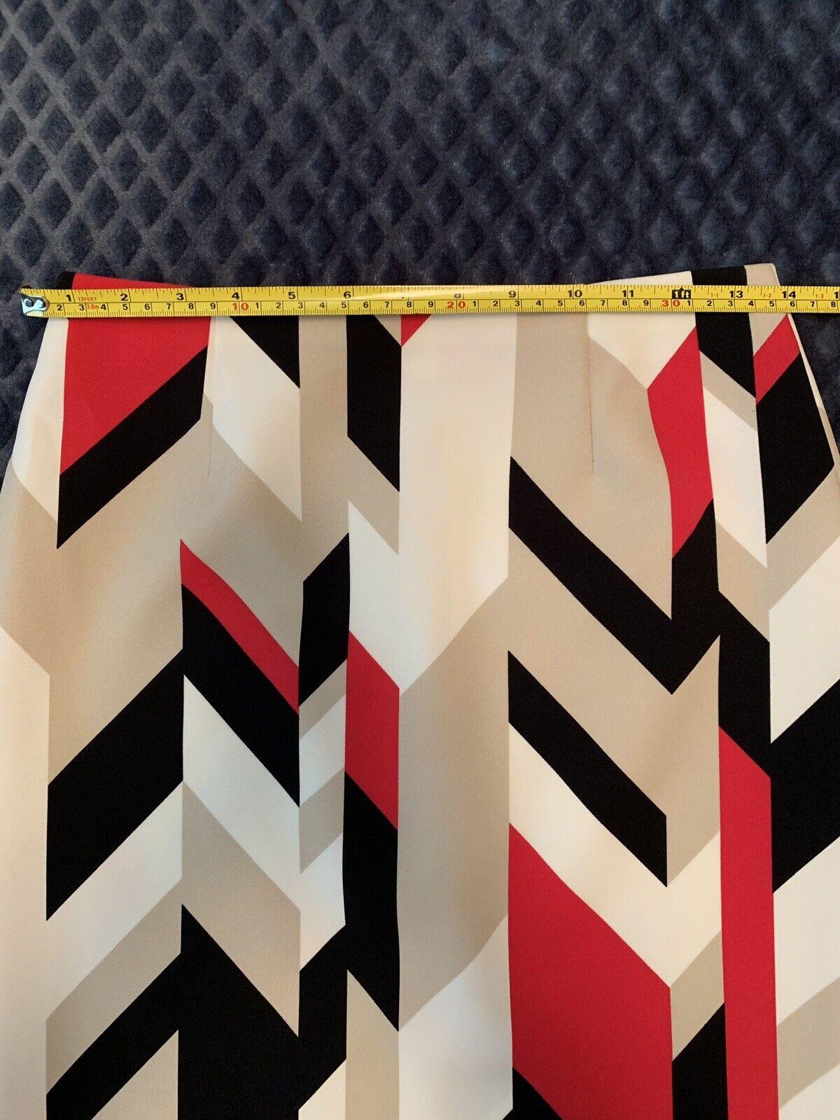BOSS Hugo Boss Geometric Print Pincel Skirt Size 4