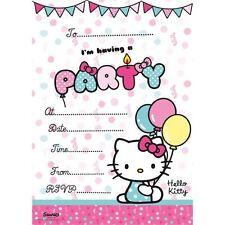 HELLO KITTY 20 Party Inviti con Buste