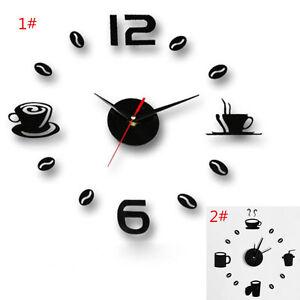 Moderne-Grand-DIY-Horloge-Murale-3D-Noir-Numero-Autocollant-Maison-Bureau-Decor