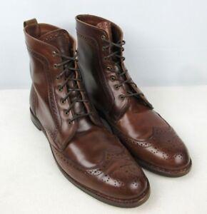 0fc350c94daa ALLEN EDMONDS Dalton Walnut SHELL CORDOVAN Dress Boots Wingtip Brown ...
