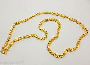 Image Is Loading Chain 22k 23k 24k Thai Baht Gold Gp