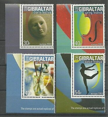 1032/35 ** Modernes Design Aggressiv Gibraltar/ Cept 03 Mi.nr Briefmarken