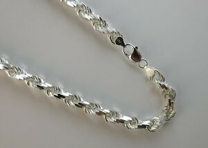 Sterling SIlver Necklace 2mm D//C Herringbone Chain Made in Italy