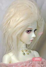 BJD doll wig 8-9 inch 20-22cm 1/3 BJD DOLL SD Fur Wig Dollfie light yellow