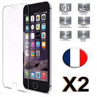 Verre Trempé iPhone 5/5s/5c/se/6/6s/7/plus film vitre Protection écran 2 Pack