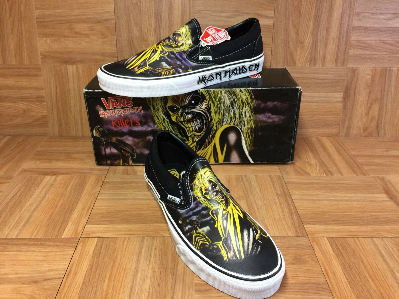 RARE VANS Iron Maiden Killers Slip On Brand New Vintage Sz 10 Men's shoes LE
