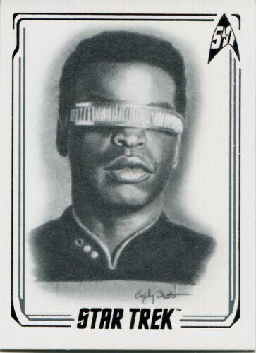 Star Trek 50th Anniversary 2017 Commander La Forge Artifex Chase Card 17 Lt
