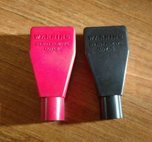Battery Terminal Covers Pair 1 Red and 1 Black 2 2 gauge AWG NEW