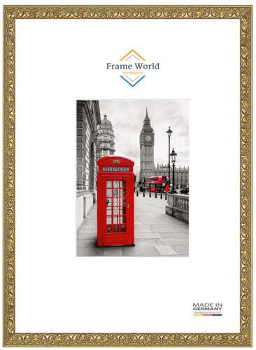 Fw30 Bois Véritable Cadre photo en or antique baroque Puzzle Poster Cadre DIN A