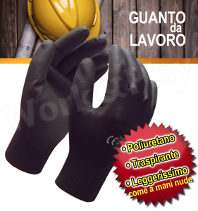 72-PAIA-GUANTI-DA-LAVORO-POLIURETANO-NERO-EXTRA-QUALITA-039-MECCANICO-OFFICINA-SWAT