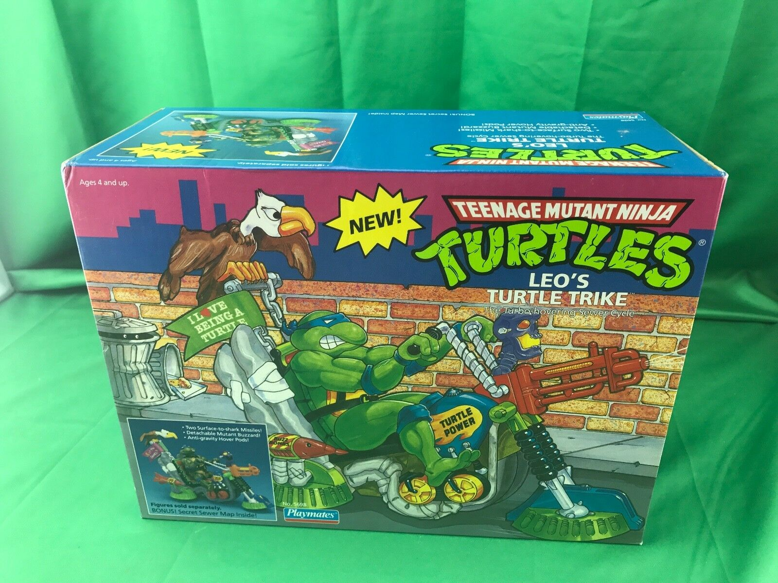 TMNT LEO'S TURTLE TRIKE VEHICLE UBER RARE TEENAGE MUTANT NINJA TURTLES