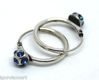 Sterling Silver Over Steel Clip-on Hoop Hinged Sleeper Earrings 13 17 21mm New