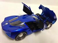 2009 Corvette Stingary Concept, Wing Door, Collectible Diecast 1:24 Jada Toy, Bl