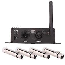 Wireless DMX512 Transmitter Receiver for LED Stage Light+4 XLR Receiver EU Z3T1