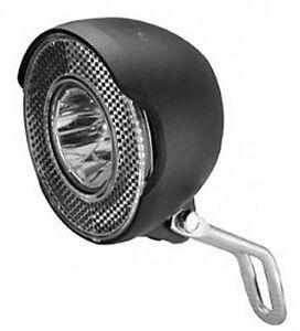 LED-Fahrrad-Lampe-100-Lumen-fuer-Dynamo-Scheinwerfer-Nabendynamo-Front-Licht-Rad