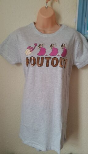 Ladies Primark Emoji Girls Going out Emotion Nightwear Long Tshirt