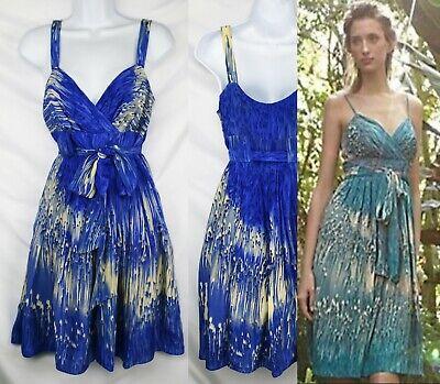 Anthropologie DiL Silk Lined Dress Blue