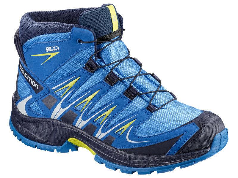 Salomon Salomon Salomon XA PRO 3D MID CSWP J Trail-Wanderschuhe Kinder blau/gelb dc2b57