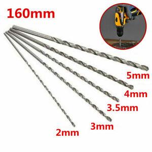 Brocas 2-5mm perforador HSS acero perforador extra largo 160mm metal taladro rounde