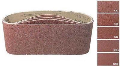20 Gewebe Schleifbänder 75 x 533 mm Korn 40 Schleifband Schleifpapier schleifen