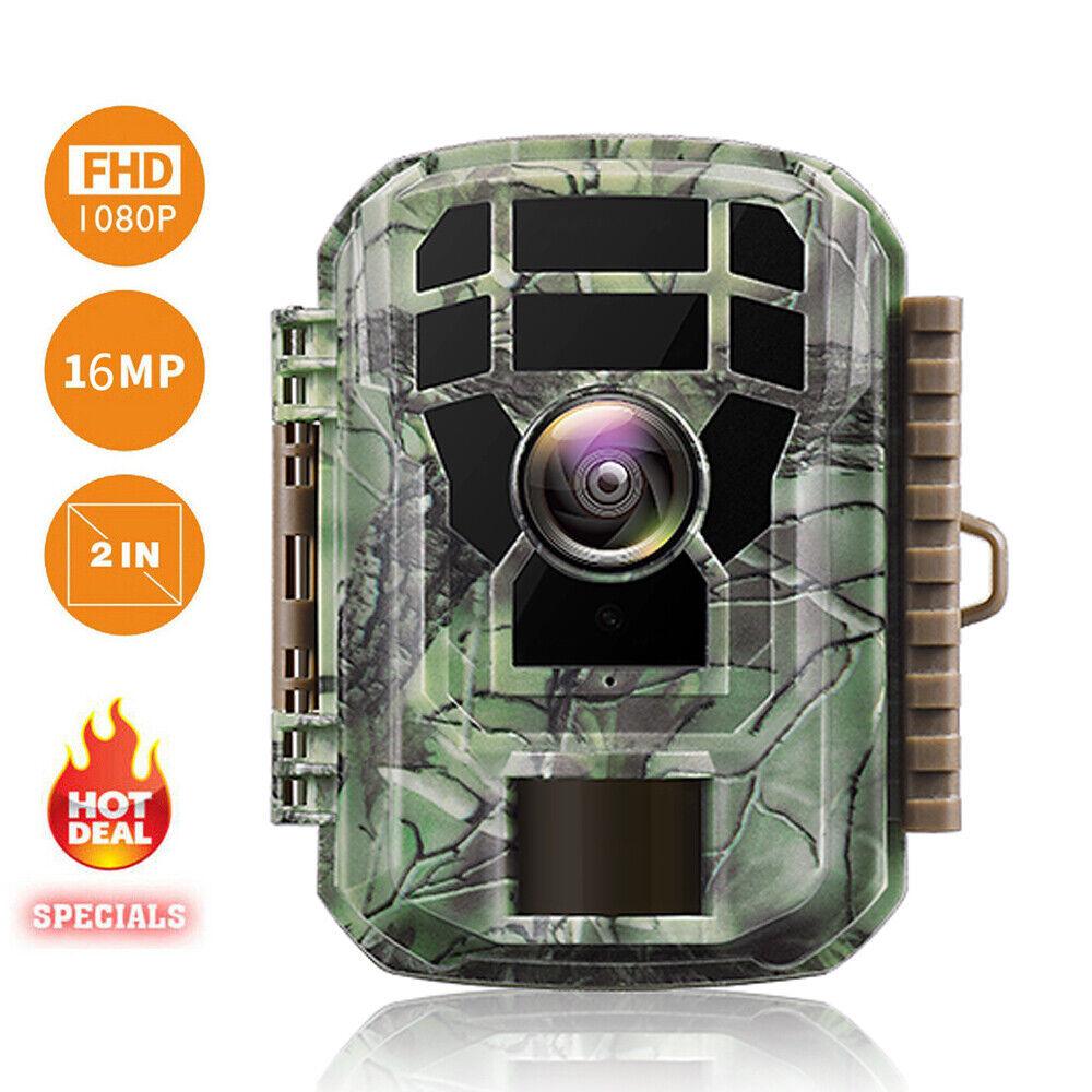 Mini cámara de la vida silvestre de 16MP FHD Cámara de caza...