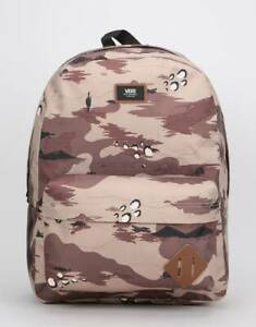 f1e1613cff430 Vans School Bag Backpack Old Skool II Desert Storm Camo Travel ...