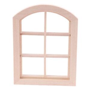 1-12-Dollhouse-Miniature-Wooden-Arched-Window-Model-Furniture-AccessoriesJ-mi