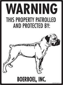 Details about Warning! Boerboel - Property Protected Aluminum Dog Sign - 9