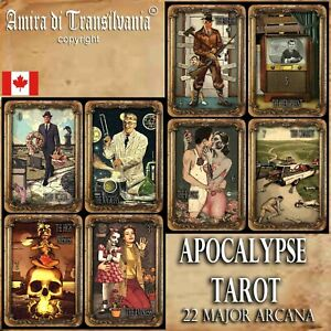 apocalypse-tarot-card-cards-deck-fortune-telling-rare-vintage-zombie-oracle-set