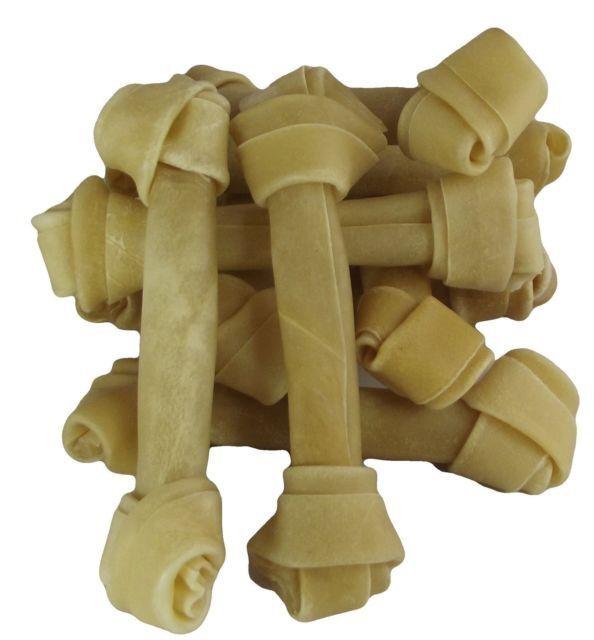 ✔ 10 x 8.5  naturale rawhide Annodato ossa per cane MASTICA Dolcetti BRAVO bambino masticare ricompensa ✔