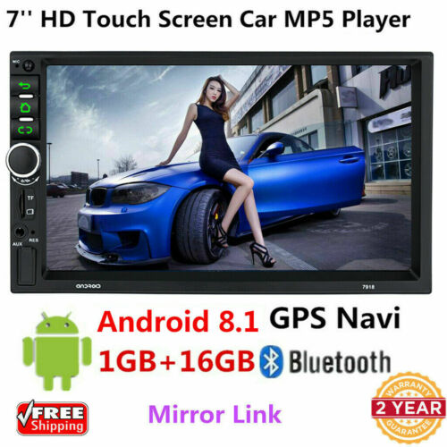 Android 8.1 4G WiFi Double 2Din Car Radio Stereo GPS Navi Multimedia Player 7/'/'