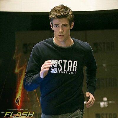 The Flash Barry Allen Star Laboratories Long Sleeve Cotton T-shirt Best Gift