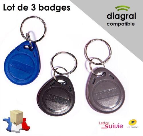 Lot de 3 Badges compatibles Diagral