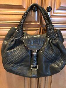 7de7ec8586fd3 Image is loading Fendi-Black-Leather-Spy-Bag