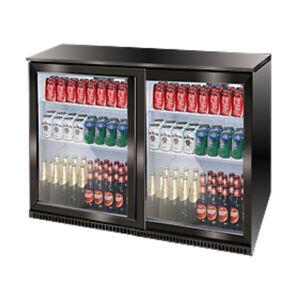 Airflo Bar Cooler Fridge Refrigerator Sliding Double Door