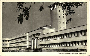 INDIEN-Vintage-Postcard-India-1955-NEW-DELHI-National-Physical-Laboratory