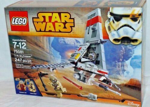 MISP 75081 LEGO Star Wars Disney T16 SKYHOPPER Pilot Tusken Raider 247pc RETIRED