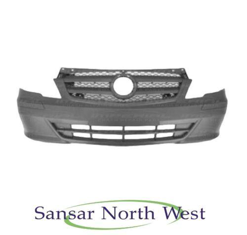 Front Bumper Mercedes Benz Vito Textured Plastic No Sensor Holes 2010-2015