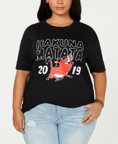 Love Tribe Juniors 2x Disney Lion King Plus Size Hakuna Matata T-shirt,nwt