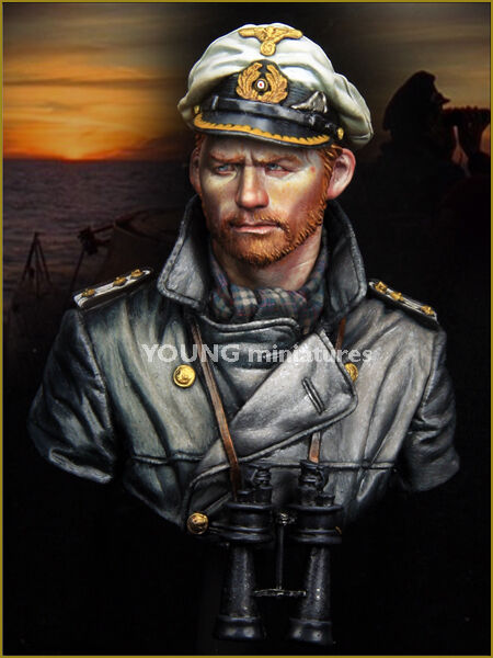 Young Mins German U-Boat Captain YM1847 WW2 Bust Unpainted Kit