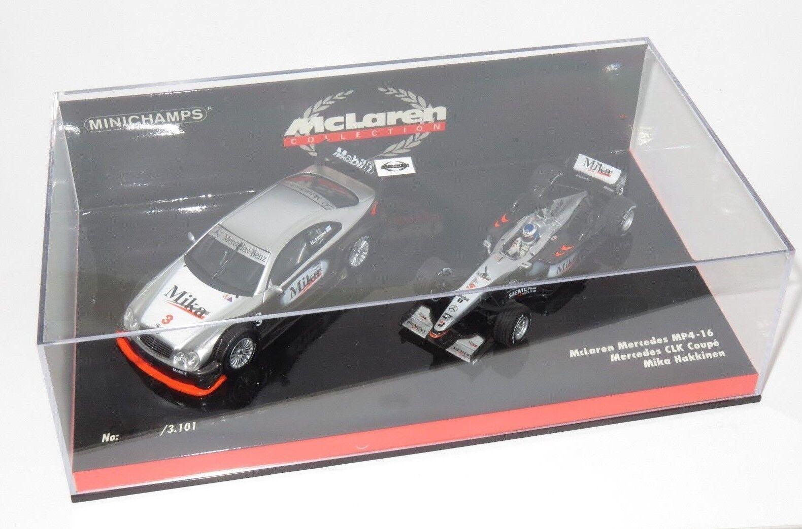 1/43 McLaren Mercedes MP4-16 y Mercedes CLK Coupe doble conjunto Mika obligaba