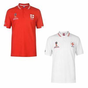 FIFA Coupe du monde 2018 Angleterre Polo Shirt Homme Football Soccer Top T-Shirt Tee