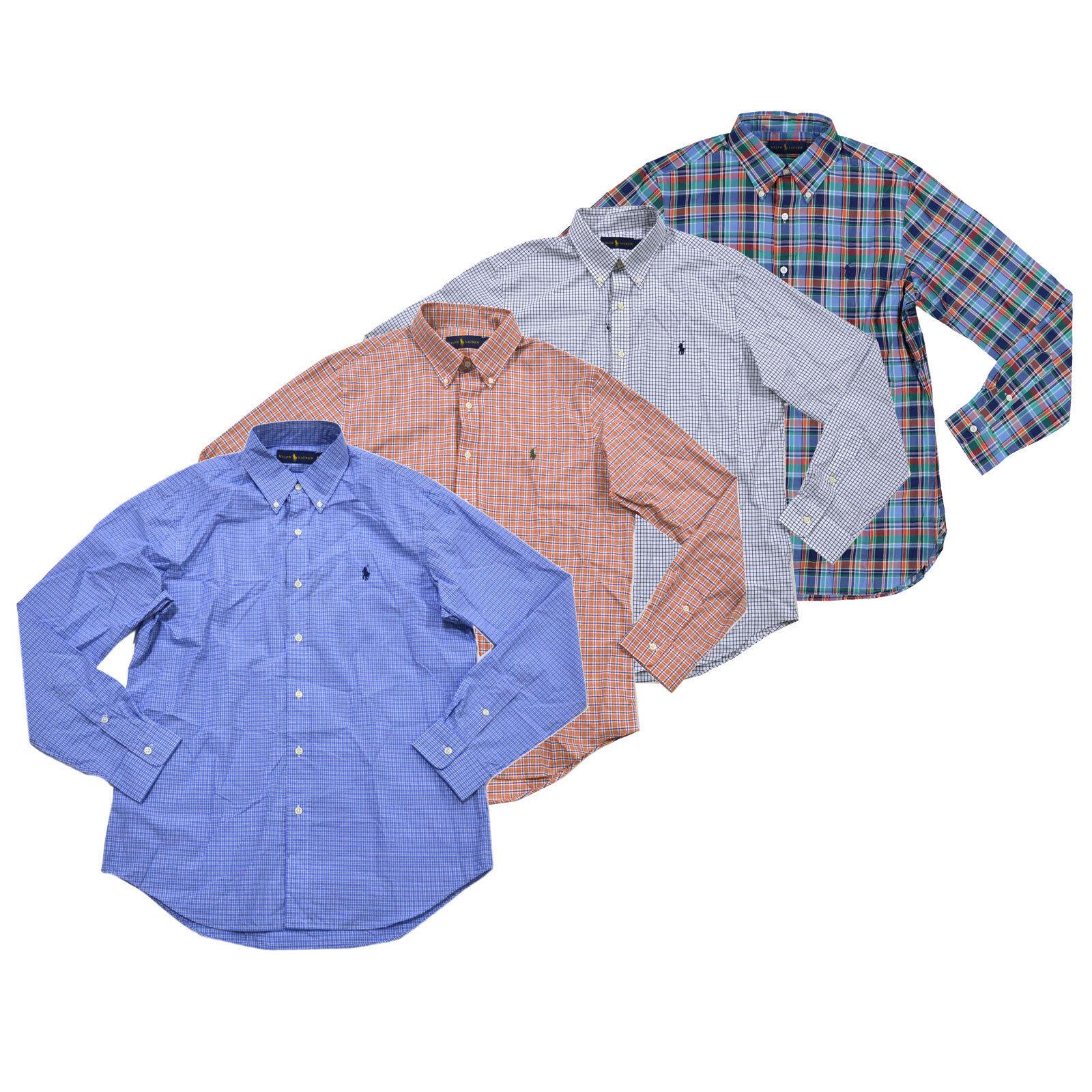 Ralph Lauren Mens Buttondown Shirt Collared Lightweight Woven Pony Logo New Nwt