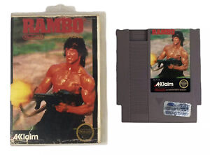 Rambo-Nintendo-Entertainment-System-1988-NES-Game-Cart-And-Case-Tested